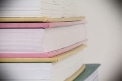 Books. Forefront of a group of books stacked Royalty Free Stock Images