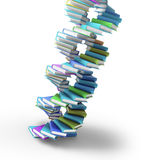 Books forming a DNA spiral Royalty Free Stock Photography