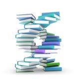 Books forming a DNA spiral Stock Photos