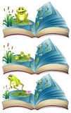 Books of frogs living in the pond Royalty Free Stock Photos