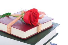 books gåvan isolerad packande white Arkivfoto