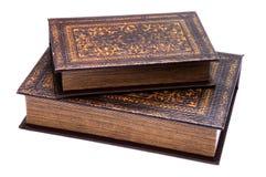 books gammala par Royaltyfri Fotografi