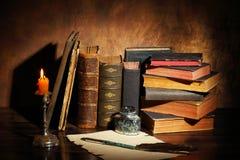 books gammalt royaltyfri bild