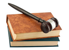 Books and gavel Stock Image