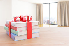 Books gift in room Royalty Free Stock Image