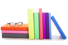 Books with glasses Stock Photography