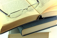 Books and glasses Stock Image
