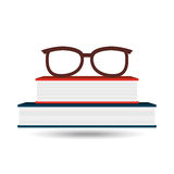 Books and glasses  design. Illustration eps10 graphic Stock Images