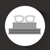 Books and glasses  design. Illustration eps10 graphic Royalty Free Stock Images