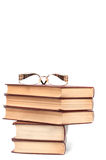 Books and glasses Royalty Free Stock Images