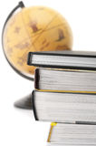 Books and globe Royalty Free Stock Photos