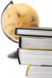 Books and globe royalty free stock photos