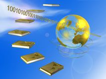 Books and globe Stock Image