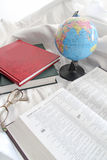Books And Globe Royalty Free Stock Image