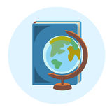 Books Globe School Geography Education Colorful Web Icon Royalty Free Stock Photos
