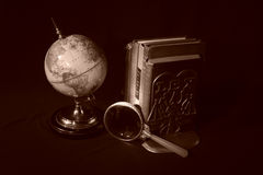 Books and Globes IV Stock Photography