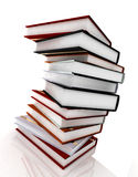 Books on glossy white Royalty Free Stock Images