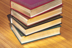 Books with gold pages Royalty Free Stock Photos