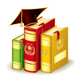 Books with Graduation cap Stock Image
