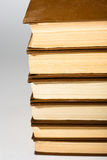 Books on gray Royalty Free Stock Images