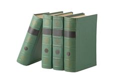Books with green cover Royalty Free Stock Image