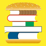 Books hamburger – fast food Royalty Free Stock Photography