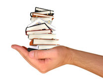 Books in the hand Royalty Free Stock Images