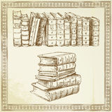 Books - hand drawn set Royalty Free Stock Photography