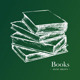 Books, Hand Drawn Sketch Vector illustration. Stock Photography