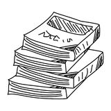 Sketch of books doodle vector.Doodle books Royalty Free Stock Photos