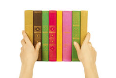 Books in hands Stock Image