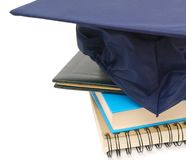 Books and hat graduation Royalty Free Stock Photos