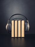 Books and headphones Royalty Free Stock Photos