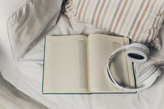 Books and headphones Royalty Free Stock Image