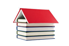 Books house isolated on white. Royalty Free Stock Photos