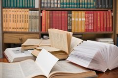 Books of house library. Royalty Free Stock Image