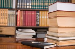 Books of house library. Stock Photography