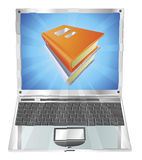 Books icon laptop concept Royalty Free Stock Image