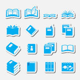 Books icon set Royalty Free Stock Image