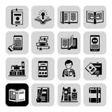 Books Icons Black Set Stock Photo