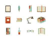 Books icons Royalty Free Stock Photos
