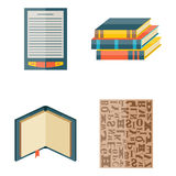 Books icons document magazine publication typography knowledge typography bookstore vector illustration. Books icons document magazine publication typography Stock Images