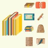 Books icons document magazine publication typography knowledge typography bookstore vector illustration. Books icons document magazine publication typography Stock Photo