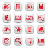 Books icons set royalty free illustration