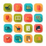 Books icons set Royalty Free Stock Photo