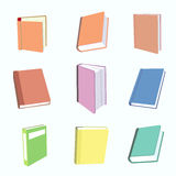 Books icons set Royalty Free Stock Image