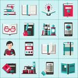 Books Icons Set Stock Photography