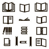 Books icons set. Stock Images