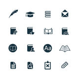 Books icons set Royalty Free Stock Photography