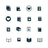 Books icons set Stock Photo